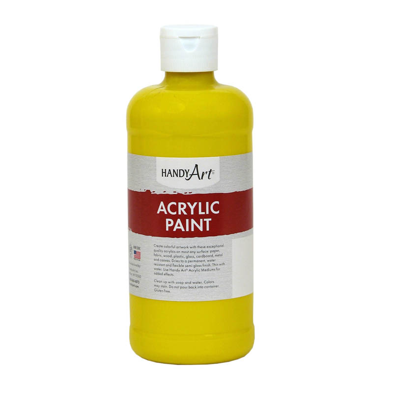 (3 Ea) Acrylic Paint 16 Oz Chromeyellow