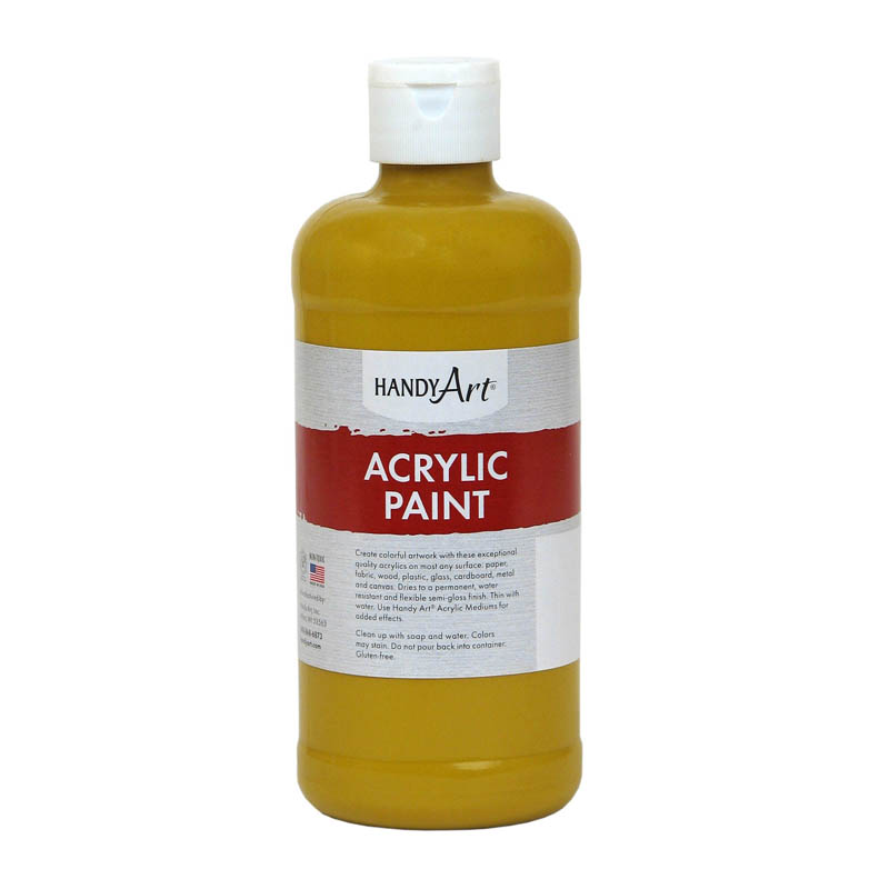 (3 Ea) Acrylic Paint 16 Oz Yellowoxide