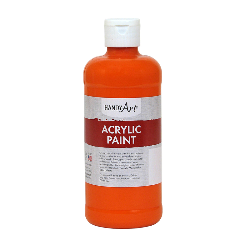 (3 Ea) Acrylic Paint 16 Oz Chromeorange