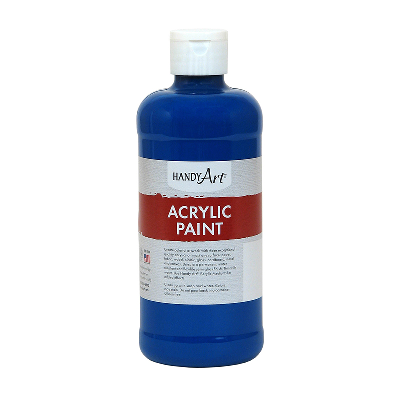 (3 Ea) Acrylic Paint 16 Oz Ultrablue