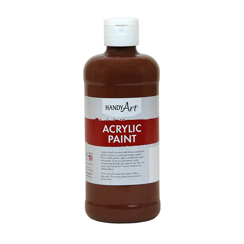 Acrylic Paint 16 Oz Burnt Sienna