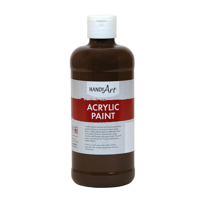 (3 Ea) Acrylic Paint 16 Oz Burntumber