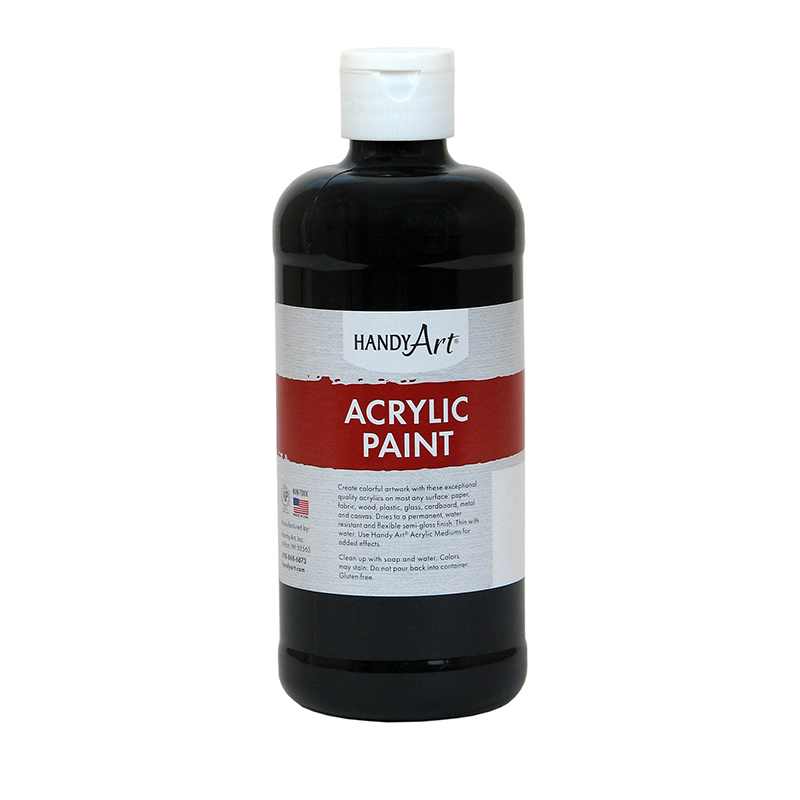 Acrylic Paint 16 Oz Mars Black