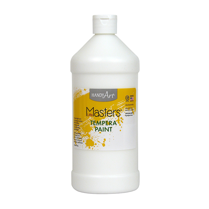 (6 Ea) Little Masters White 32oztempera Paint