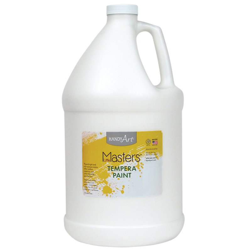 Little Masters White 128oz Temperapaint