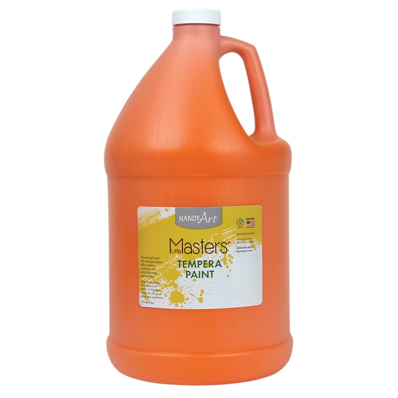 Little Masters Orange 128oz Temperapaint