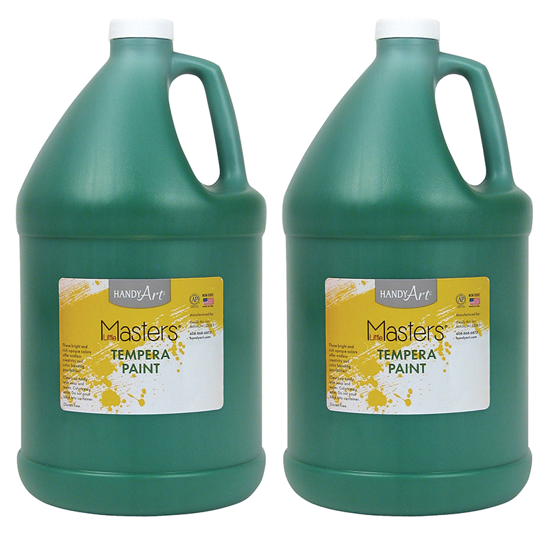(2 Ea) Little Masters Green 128oztempera Paint