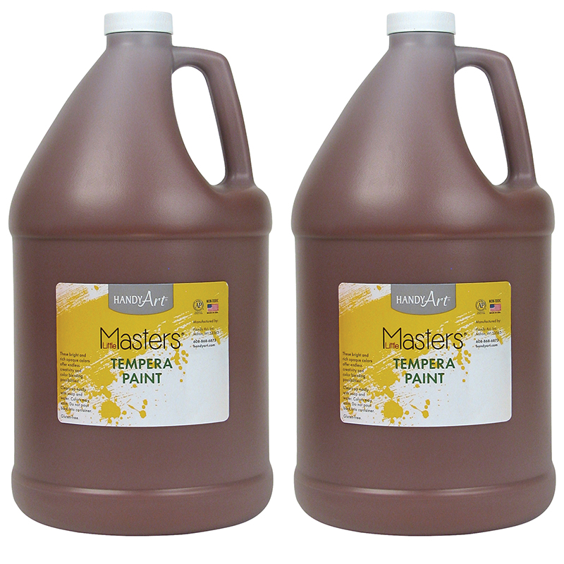 (2 Ea) Little Masters Brown 128oztempera Paint