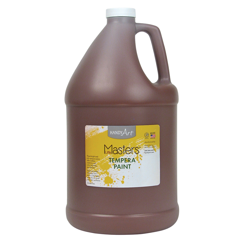 Little Masters Brown 128oz Temperapaint