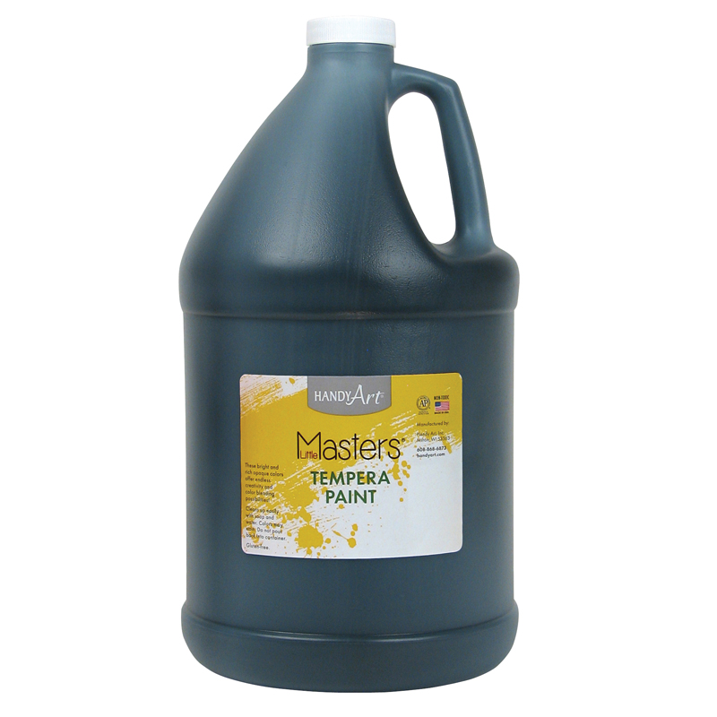 Little Masters Black 128oz Temperapaint