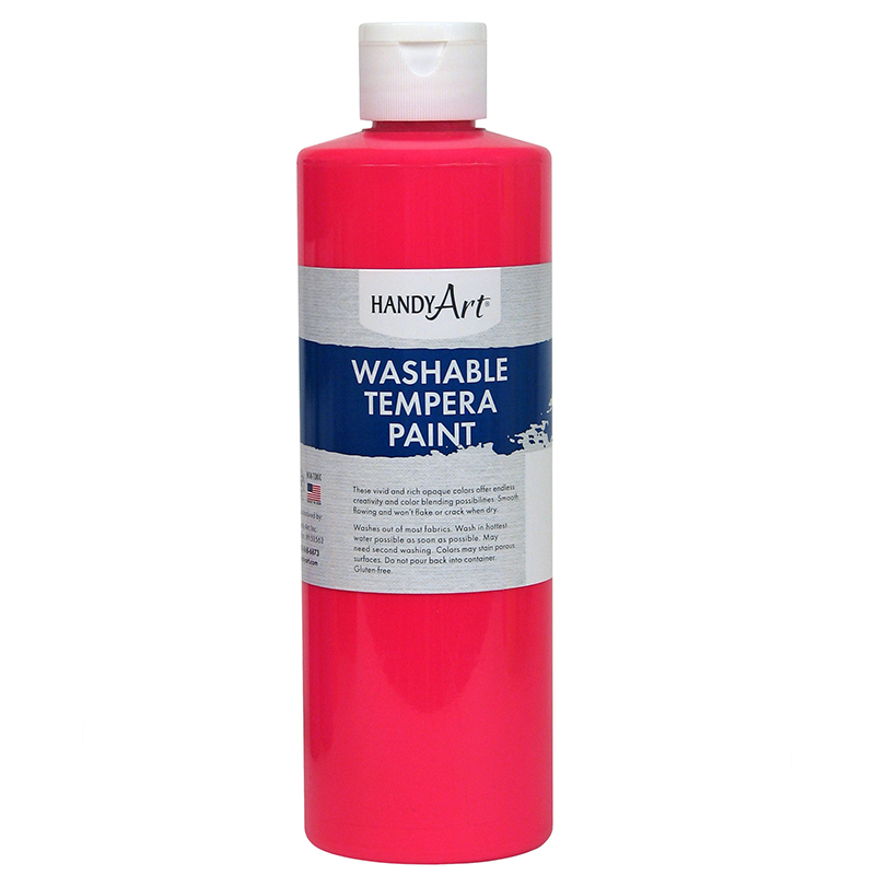 Fluorescent Pink Tempera Paint 16ozhandy Art Washable