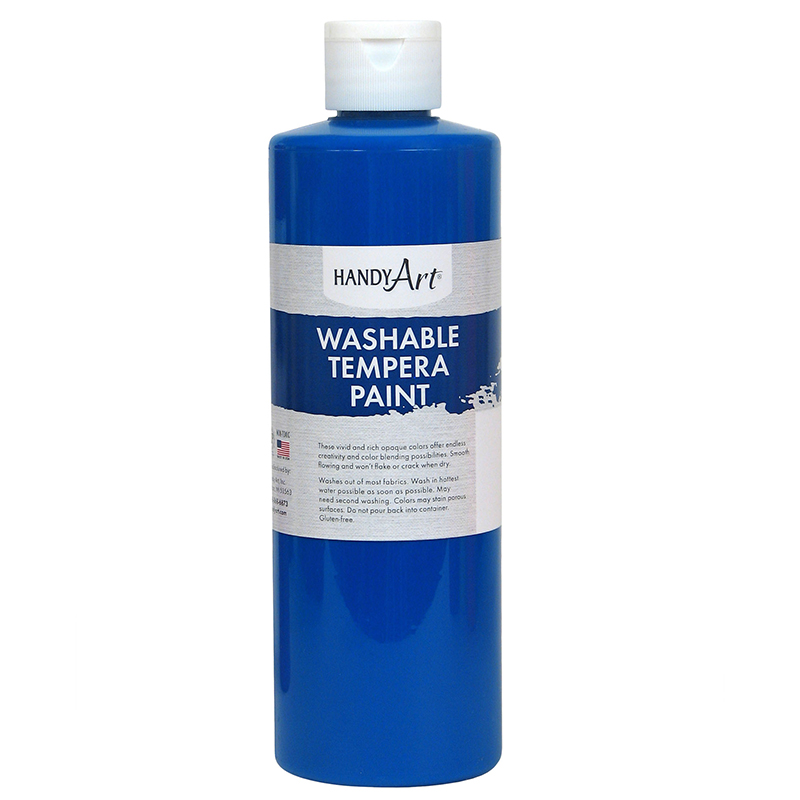 Fluorescent Blue Tempera Paint 16ozhandy Art Washable