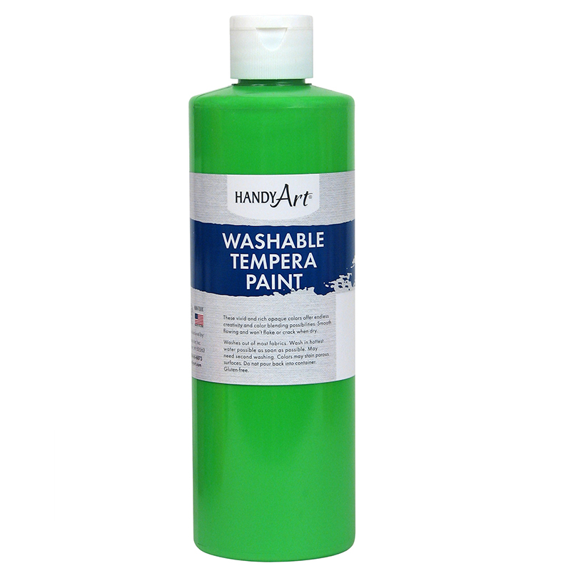 Fluorescent Green Tempera 16ozpaint Handy Art Washable