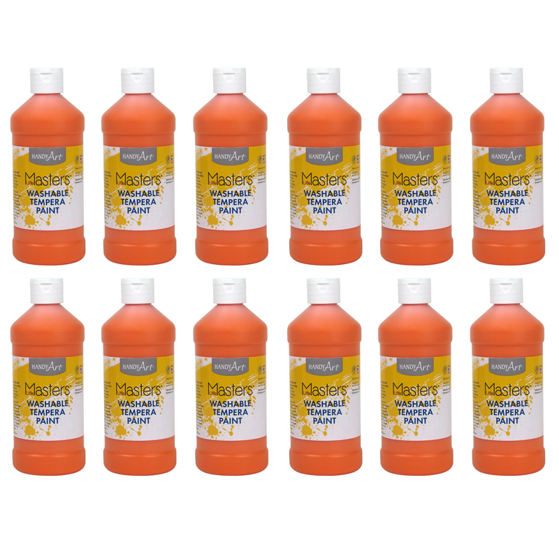 (12 Ea) Little Masters Orange 16ozwashable Paint