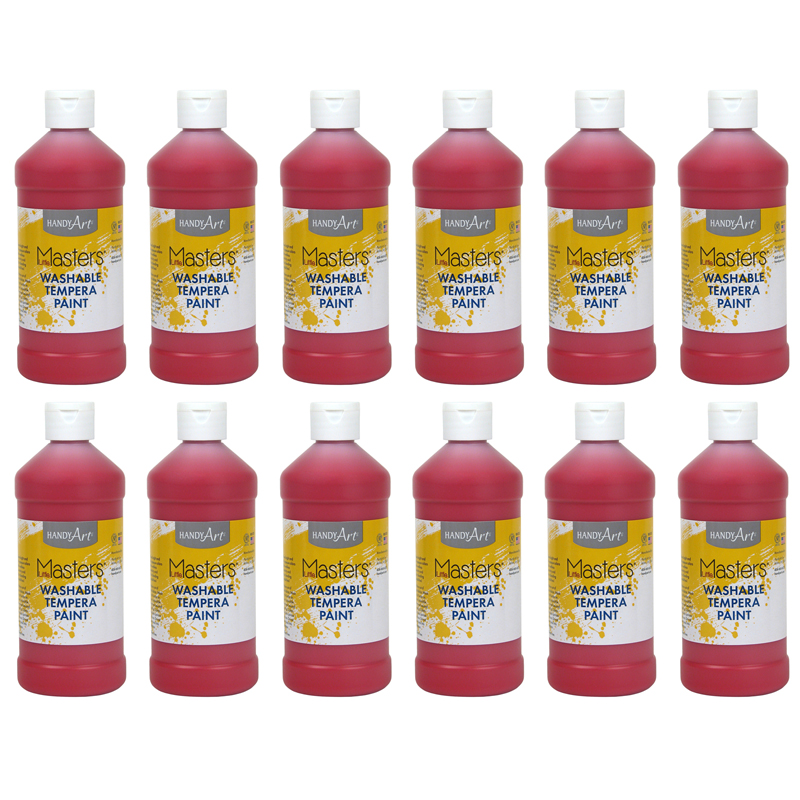 (12 Ea) Little Masters Red 16ozwashable Paint