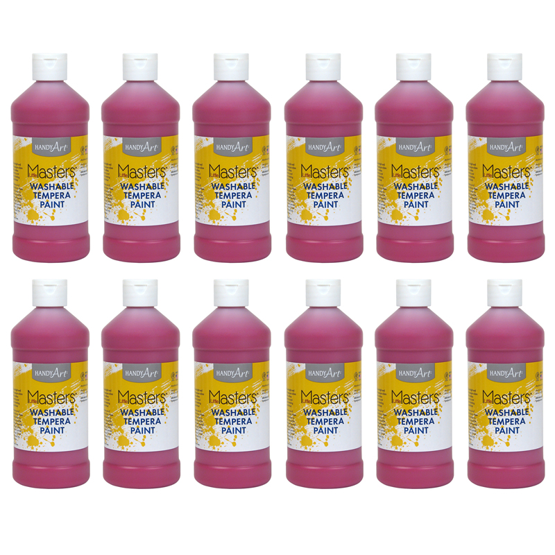 (12 Ea) Little Masters Magneta 16ozwashable Paint