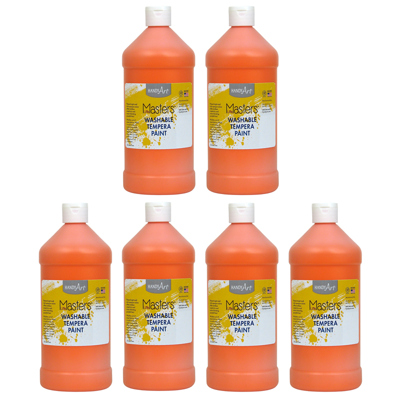 (6 Ea) Little Masters Orange 32ozwashable Paint