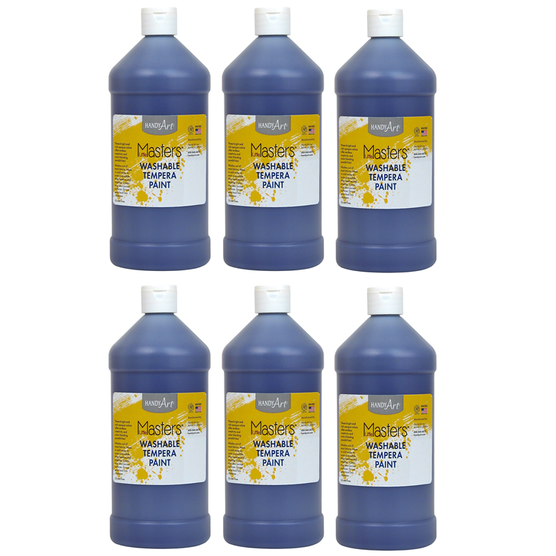 (6 Ea) Little Masters Violet 32ozwashable Paint