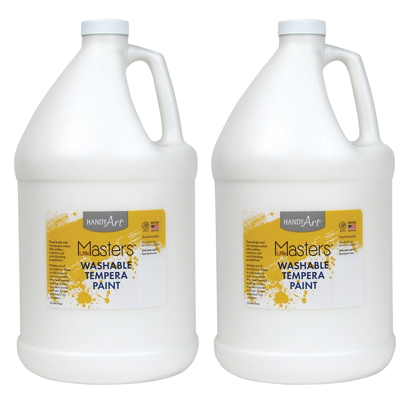 (2 Ea) Little Masters White 128ozwashable Paint