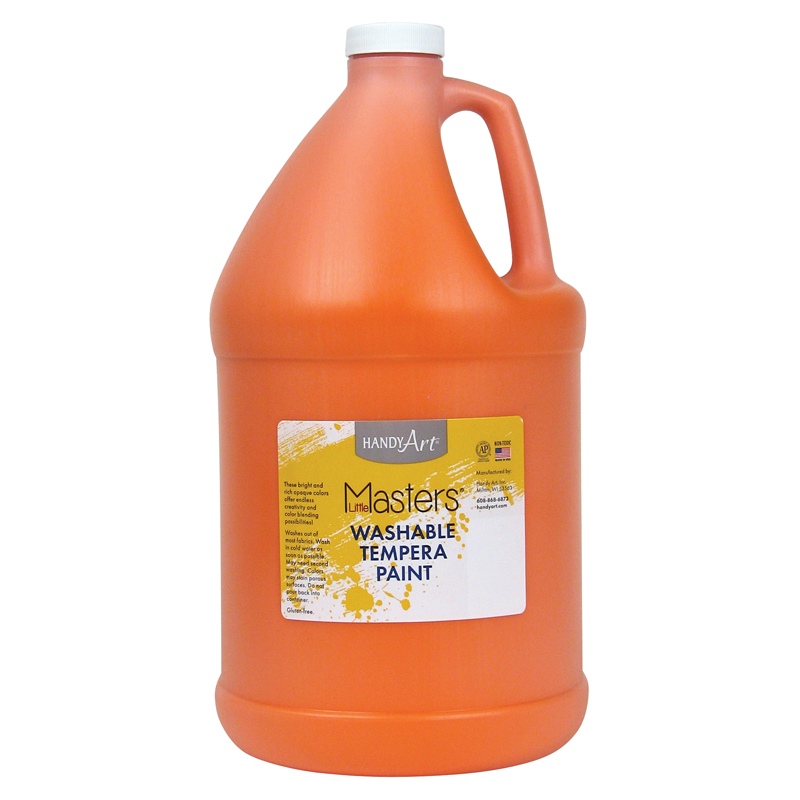 Little Masters Orange 128ozwashable Paint