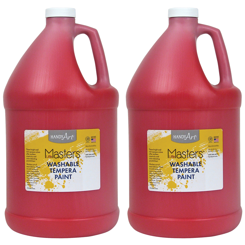 (2 Ea) Little Masters Red 128ozwashable Paint