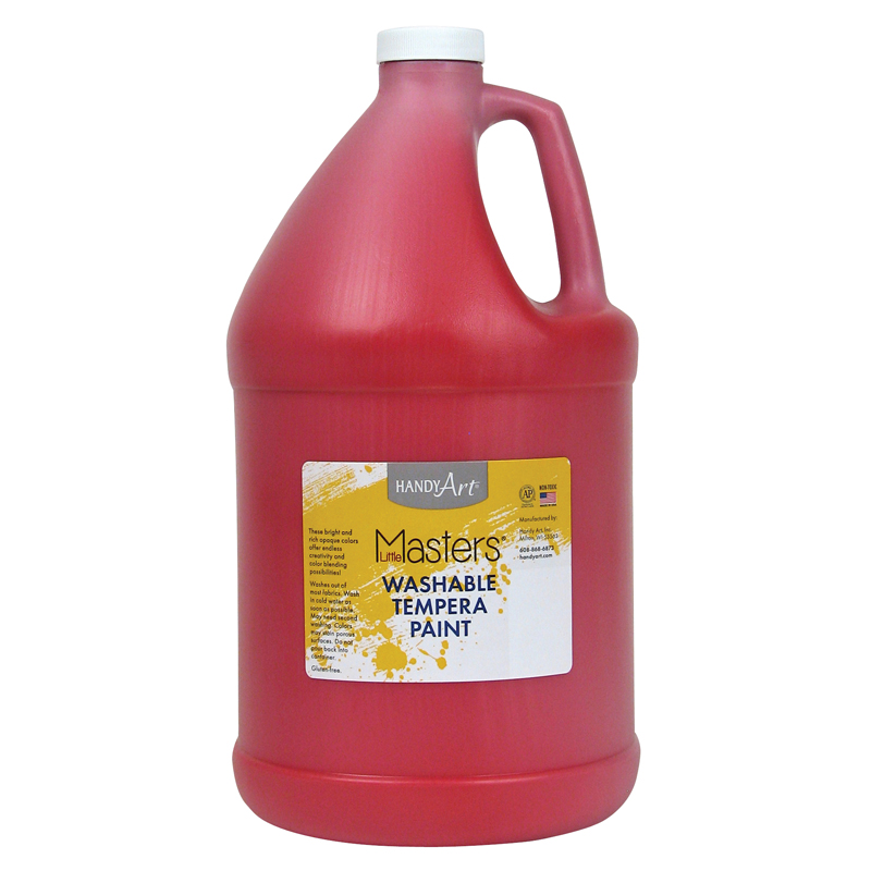 Little Masters Red 128oz Washablepaint