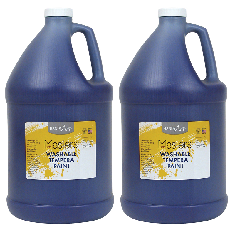 (2 Ea) Little Masters Violet 128ozwashable Paint