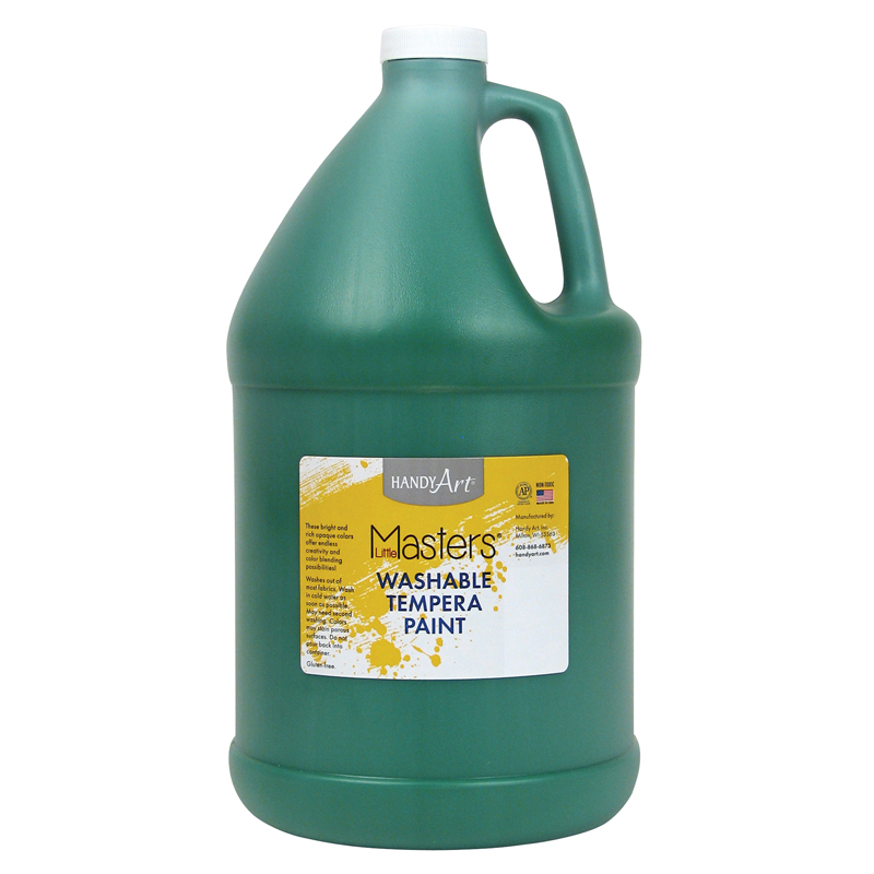 Little Masters Green 128oz Washablepaint