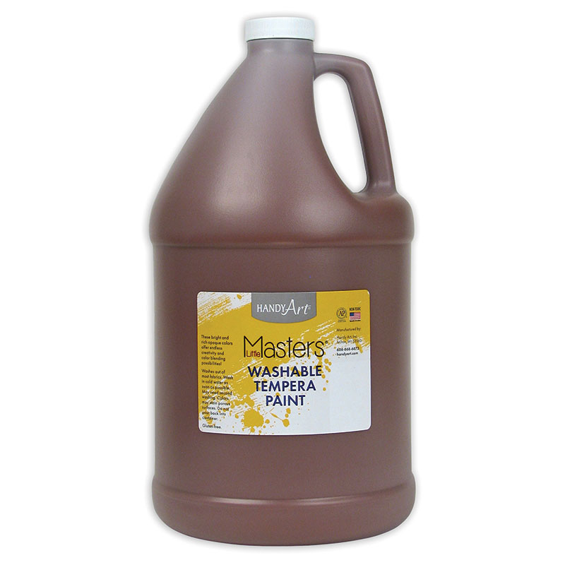 Little Masters Brown 128oz Washablepaint