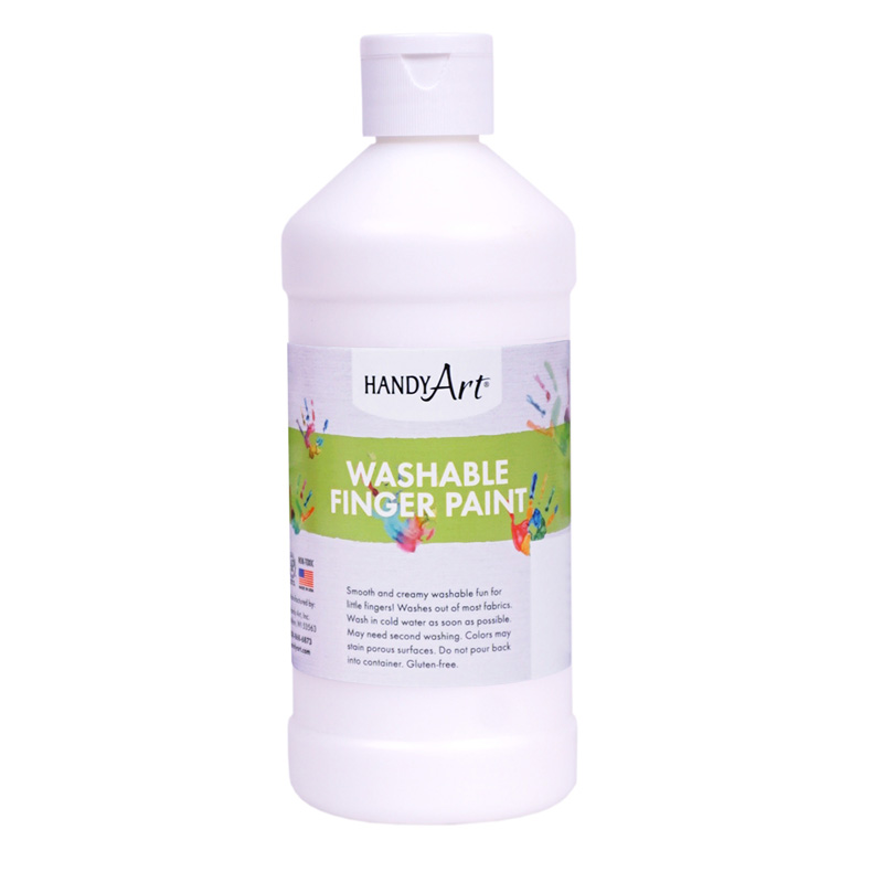 Handy Art White 16oz Washablefinger Paint