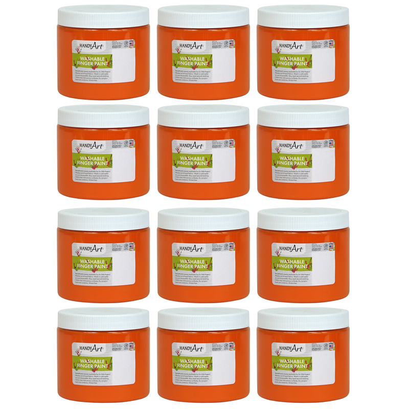(12 Ea) Handy Art Org 16oz Washablefinger Paint