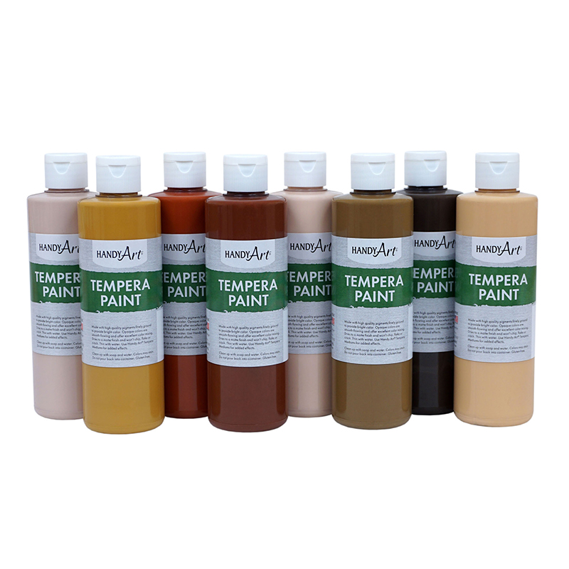 Handy Art Tempera Paint 8oz 8 Setmulticultural
