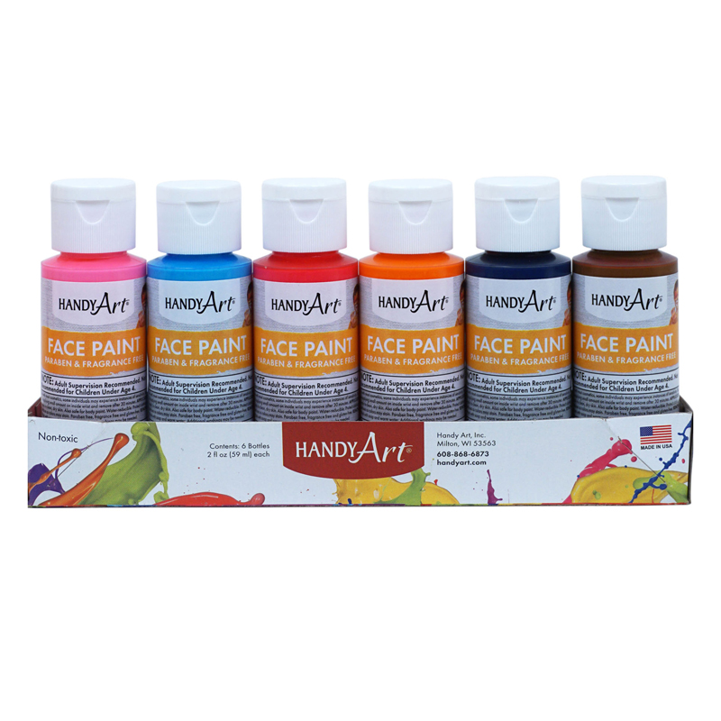6pk Washable Face Paint Kithandy Art