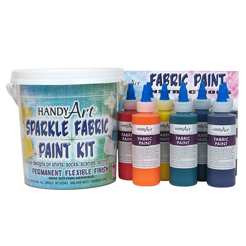 Handy Art Fabric Paint Sparkle Kit9 - 4oz Bottles
