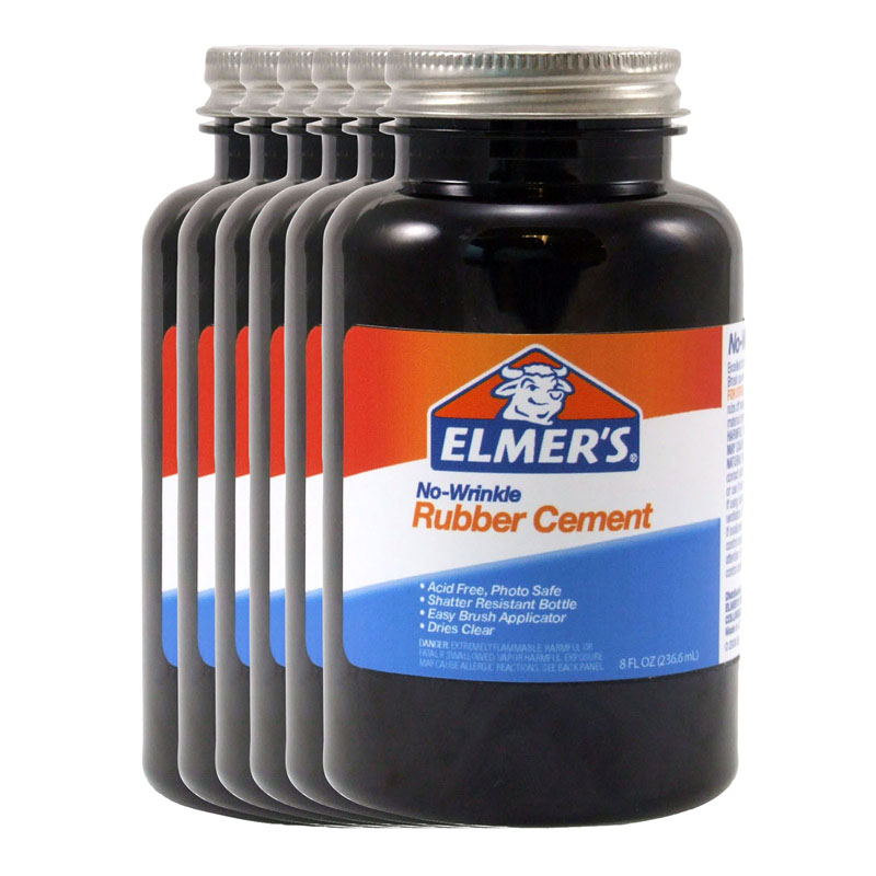 (6 Ea) Rubber Cement W/applc 8oz