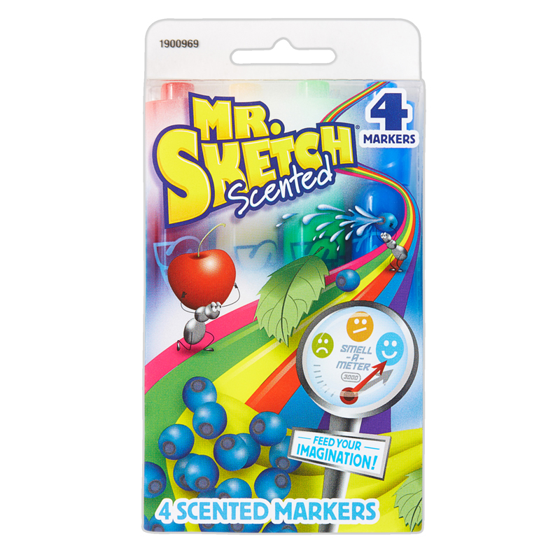 Mr Sketch Scented 4 Color Chiseltip Markers