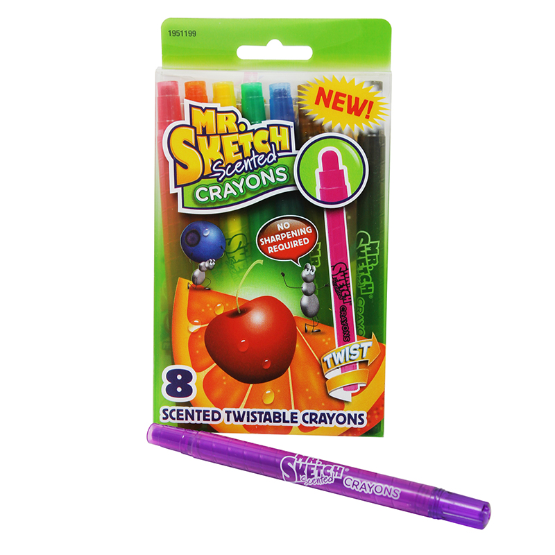 Mr Sketch Scented Twist Crayon 8 Ct