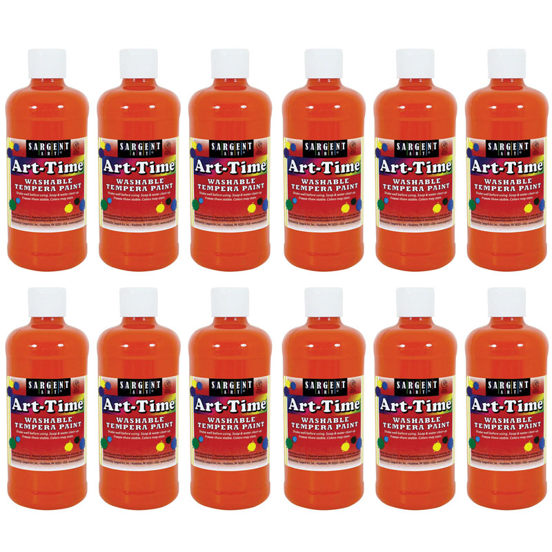 (12 Ea) Orange Art-time Washablepaint 16oz