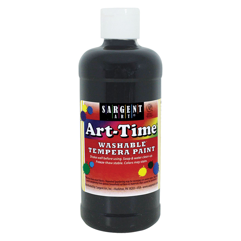 Black Art-time Washable Paint 16 Oz