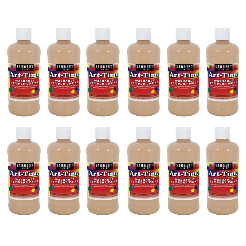 (12 Ea) Peach Art-time Washablepaint 16 Oz