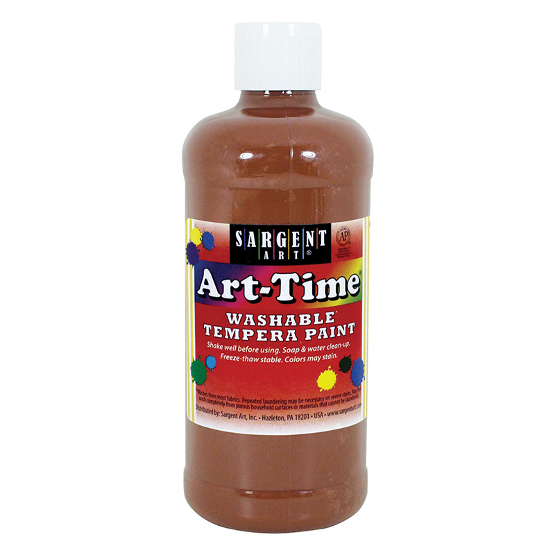 Brown Art-time Washable Paint 16 Oz