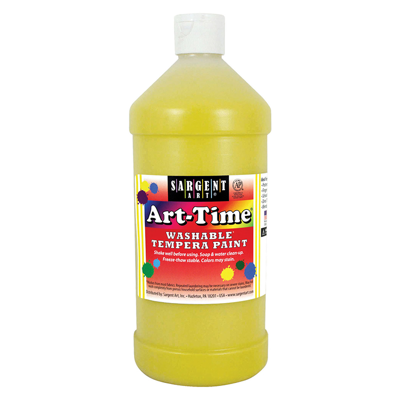 Yellow Art-time Washable Paint 32oz