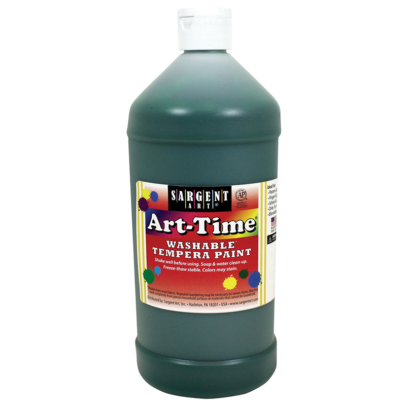 Green Art-time Washable Paint 32 Oz