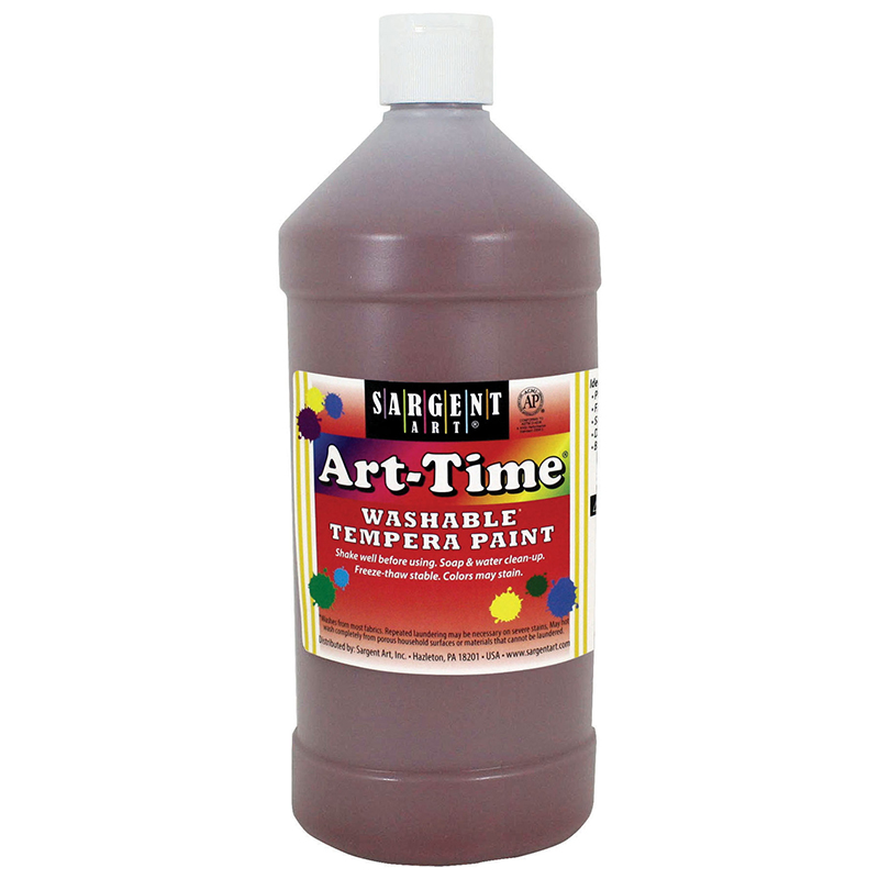 Brown Art-time Washable Paint 32 Oz