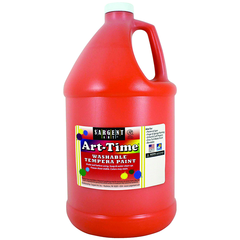 Orange Art-time Washable Paint Glln