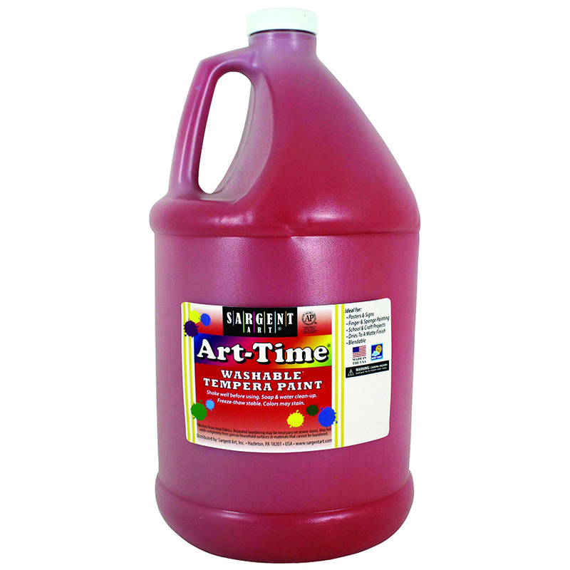 Red Art-time Washable Paint