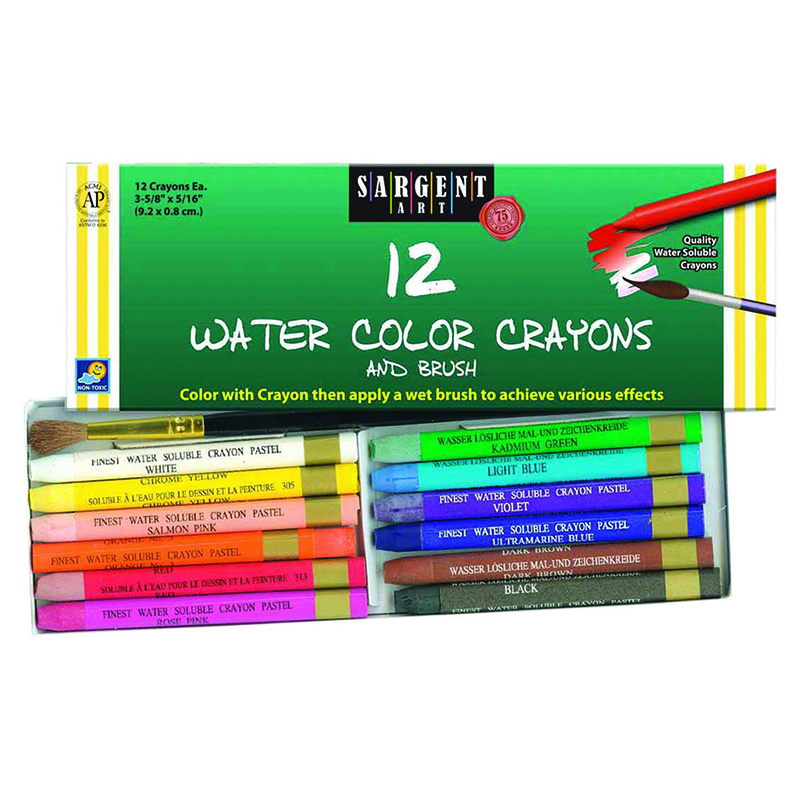 12 Ct Watercolor Crayon