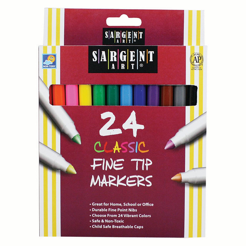 Sargent Art Classic Markers Finetip 24 Colors