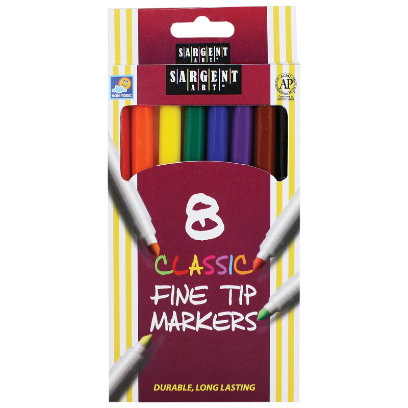 Sargent Art Classic Markers Finetip 8 Colors