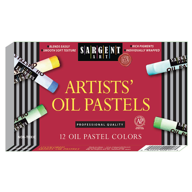 (12 Bx) Sargent Regular Oil Pastels15 Per Bx